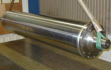 Nickelage, chromage et rectification d'un cylindre blanchet
